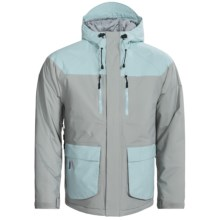 Flylow BA Puffy Ski Jacket - Waterproof, Insulated (For Men) in Quarry/Aquamarine - Closeouts