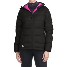 Flylow Betty Down Jacket - 700 Fill Power (For Women) in Black/Magenta - Closeouts