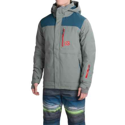 Flylow Colt Down Ski Jacket - Waterproof, 600 Fill Power (For Men) in Grey/Storm - Closeouts
