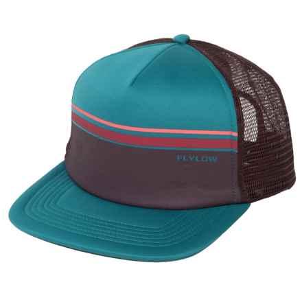 Flylow Cream Soda Trucker Hat (For Men) in Steel/Barleywine - Closeouts