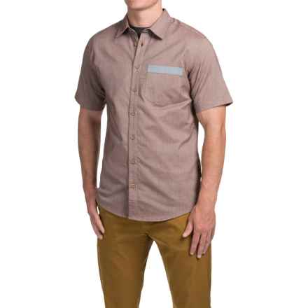 Flylow Dalton Chambray Shirt - Cotton Blend, Short Sleeve (For Men) in Redwood - Closeouts
