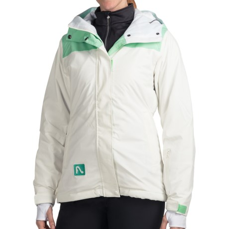 Flylow Dolce Vita Ski Jacket - Insulated (For Women) in White/Cascade