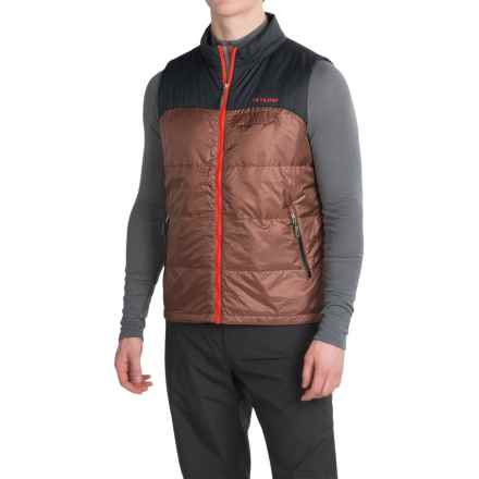Flylow Larry Down Vest - 600 Fill Power (For Men) in Bark/Black - Closeouts