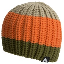 Flylow Loose Knit Beanie Hat (For Women) in Tarmac/Orange/Chinchilla - Closeouts