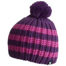 Flylow Loose Knit Pom Beanie Hat (For Women) in Purple/Magenta - Closeouts