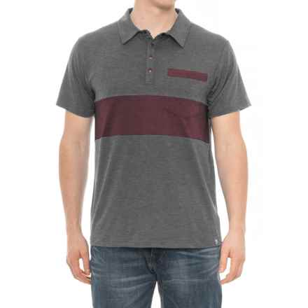 Flylow Lopez Polo Shirt - Short Sleeve (For Men) in Coal - Closeouts