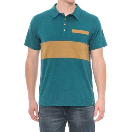 Flylow Lopez Polo Shirt - Short Sleeve (For Men) in Ocean - Closeouts
