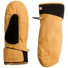 Flylow Master PrimaLoft® Mittens - Insulated, Goatskin Leather (For Men) in Natural - Closeouts
