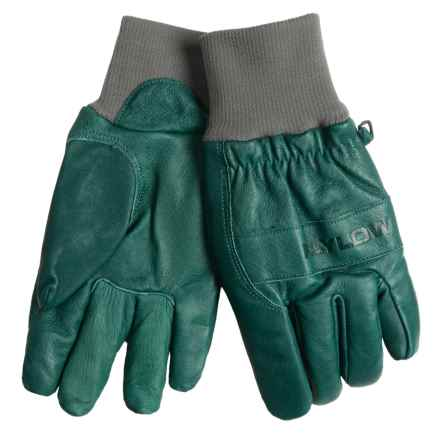 Flylow Ridge Gloves - Cowhide Leather (For Men) in Moss - Closeouts