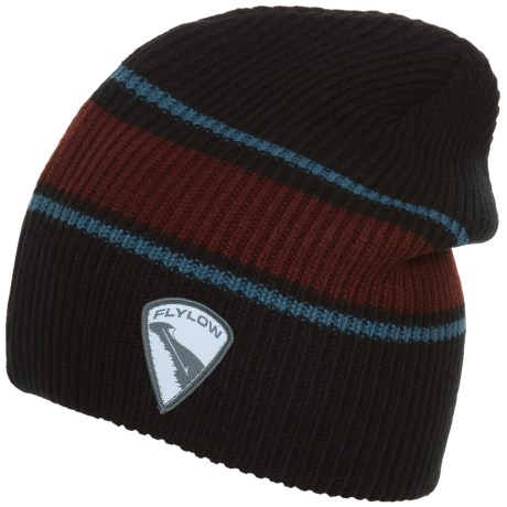 Flylow Rooster Beanie (For Women) in Black/Barleywine/Steel
