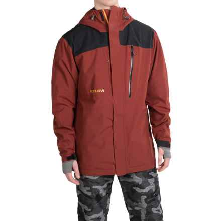Flylow Stringfellow Ski Jacket - Waterproof (For Men) in Redwood/Black - Closeouts