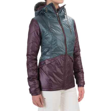 Flylow Tamara Micropuff PrimaLoft® Hooded Jacket - Insulated (For Women) in Storm/Plum - Closeouts