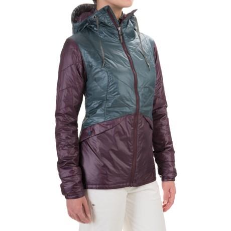 Flylow Tamara Micropuff PrimaLoft® Hooded Jacket - Insulated (For Women) in Storm/Plum