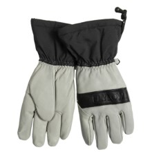 Flylow Upslope Gloves - Waterproof, Goatskin Leather (For Men) in Grey/Black - Closeouts