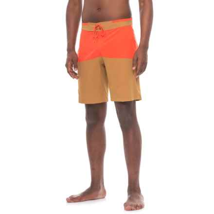 Flylow Waylon Boardshorts - UPF 40+ (For Men) in Maize/Lava - Closeouts