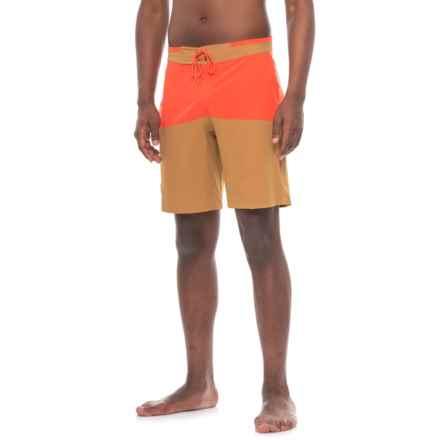 Flylow Waylon Boardshorts - UPF 40+ (For Men) in Maize/Lava - Closeouts
