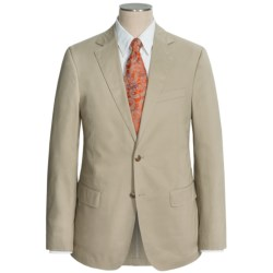 Flynt Solid Cotton Suit (For Men) in Khaki