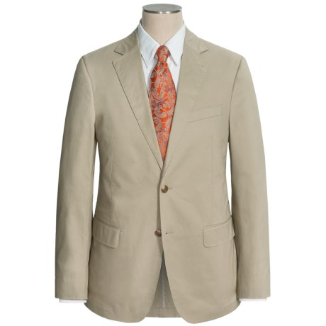 Flynt Solid Cotton Suit (For Men) in Bone