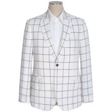 Flynt Sparrow Windowpane Sport Coat - Linen-Cotton (For Men) in Navy/White - Closeouts