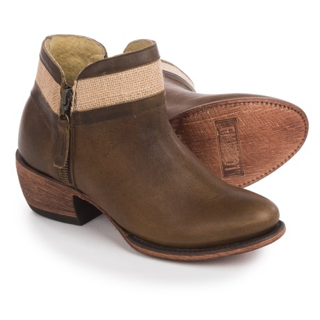 FM 1101 Bonnie Ankle Booties (For Women) in Brown