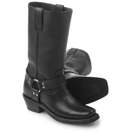 FM 1101 Harness Boots - Leather, Square Toe (For Women) in Black - Closeouts