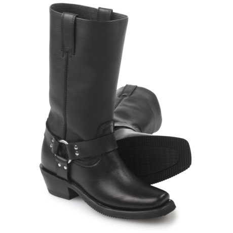 FM 1101 Harness Boots - Leather, Square Toe (For Women) in Black