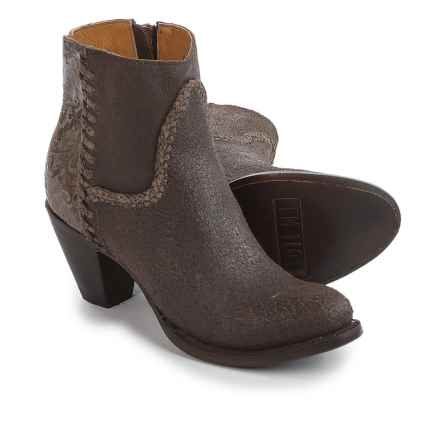 FM 1101 Regina Cowboy Boots - Leather (For Women) in Brown - Closeouts