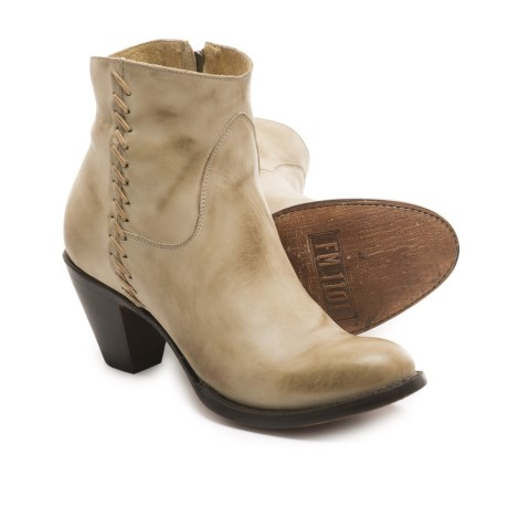 FM 1101 Regina Western Ankle Boots - Leather (For Women)