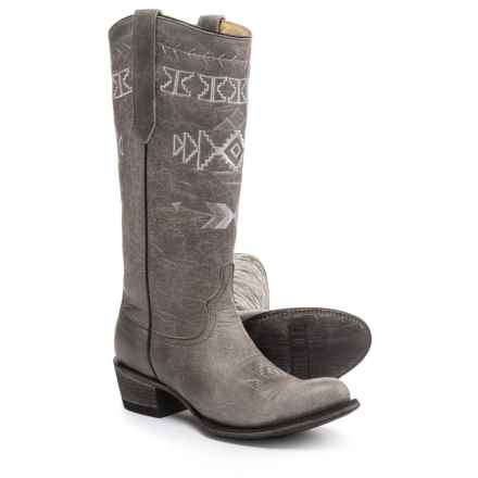 FM 1101 Sunset Cowboy Boots (For Women) in Grey - Closeouts