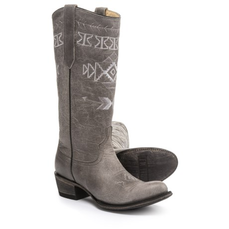 FM 1101 Sunset Cowboy Boots (For Women) in Grey