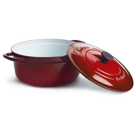 Fontignac Round Cocotte with Lid - 5.5 qt. in Red - Closeouts