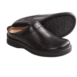 Footprints by Birkenstock Ashby Clogs - Leather (For Women) in Black
