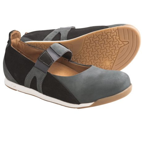 Footprints by Birkenstock Freiburg Mary Jane Shoes - Leather (For Women) in Khaki/Taupe/Green Suede