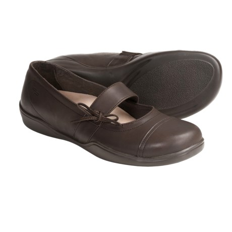 Footprints by Birkenstock Latina Mary Jane Shoes - Leather (For Women) in Chocolate