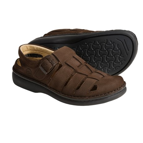 Footprints by Birkenstock Merced Sandals (For Men and Women) in Mocha Emsossed