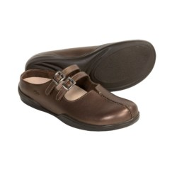 Footprints by Birkenstock Varese Shoes - Leather Slip-Ons (For Women) in Dark Gold