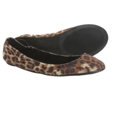 Footzyfolds Betsy Shoes - Slip-Ons (For Women) in Cheeta - Closeouts