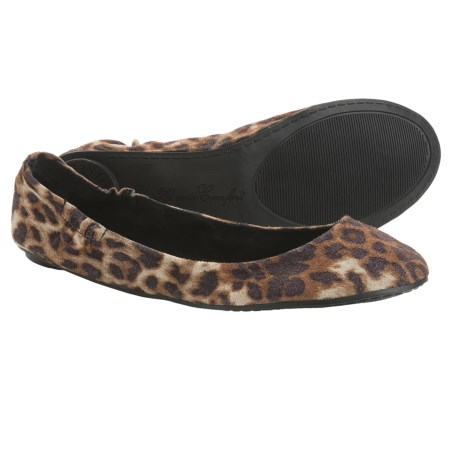 Footzyfolds Betsy Shoes - Slip-Ons (For Women) in Silver Animal Print