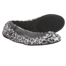 Footzyfolds Betsy Shoes - Slip-Ons (For Women) in Silver Animal Print - Closeouts