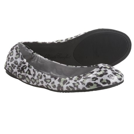 Footzyfolds Betsy Shoes - Slip-Ons (For Women) in Black Studded