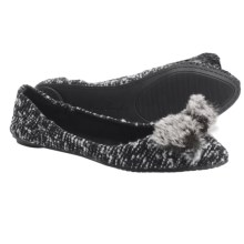 Footzyfolds Boucle Flats (For Women) in Black/White - Closeouts