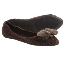 Footzyfolds Boucle Flats (For Women) in Brown - Closeouts