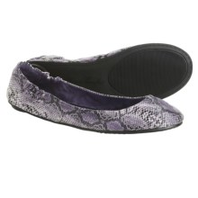 Footzyfolds Snake Ballet Shoes (For Women) in Purple - Closeouts