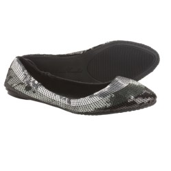Footzyfolds Spark Burst Shoes - Slip-Ons (For Women) in Silver