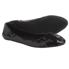 Footzyfolds Spark Burst Shoes - Slip-Ons (For Women) in Black - Closeouts