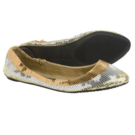 Footzyfolds Spark Burst Shoes - Slip-Ons (For Women) in Gold Multi