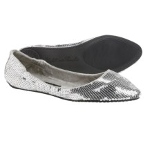 Footzyfolds Spark Burst Shoes - Slip-Ons (For Women) in Silver - Closeouts