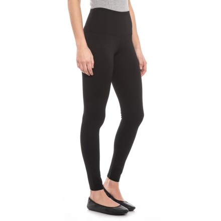 abe06d28cd0c6a For Cynthia Black Tummy-Control Leggings (For Women) in Black - Closeouts