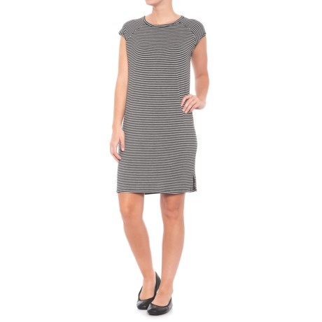 For the Republic Crew Neck Dress - Sleeveless (For Women) in Black/Charcoal Heather