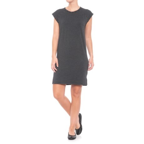 For the Republic Crew Neck Dress - Sleeveless (For Women) in Black/Mist Grey Heather